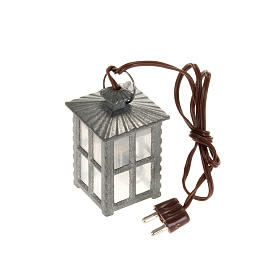 Nativity lights and lamps: Metal lamp with white light, 4cm