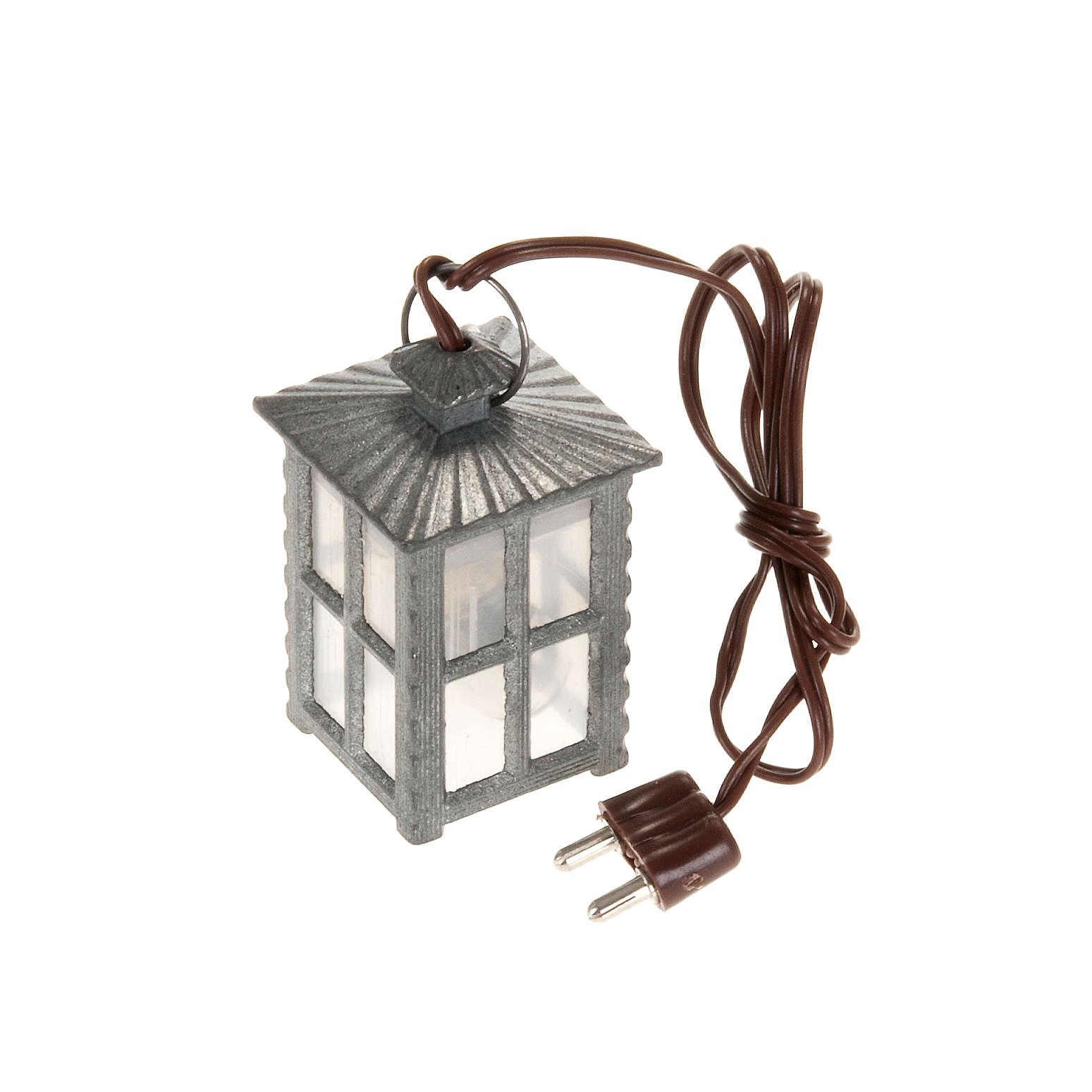 Lanterne métal lumière blanche h 4 cm 4