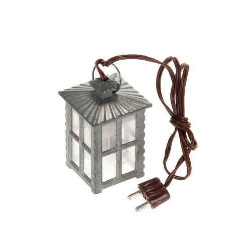 Lanterne métal lumière blanche h 4 cm 1