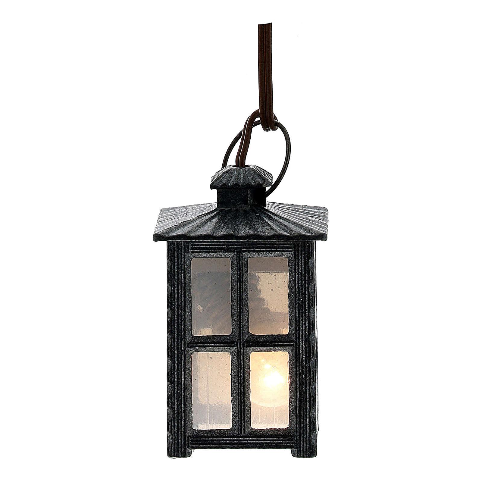 Lampione metallo luce bianca h 4 cm 4