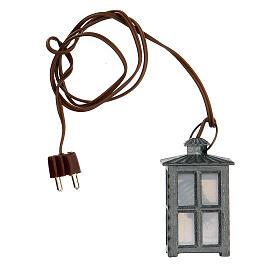 Lampione metallo luce bianca h 4 cm s3