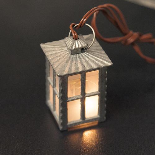 Lampione metallo luce bianca h 4 cm 2