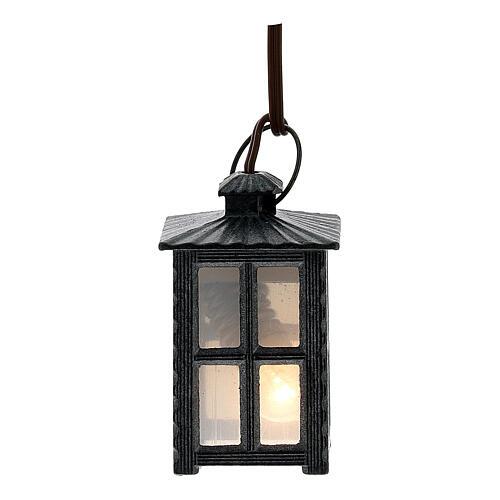 Lampione metallo luce bianca h 4 cm 1