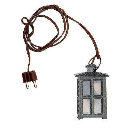 Lampione metallo luce bianca h 4 cm 3