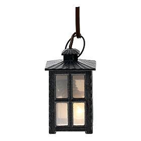 Lampion metal światło białe h 4 cm s1