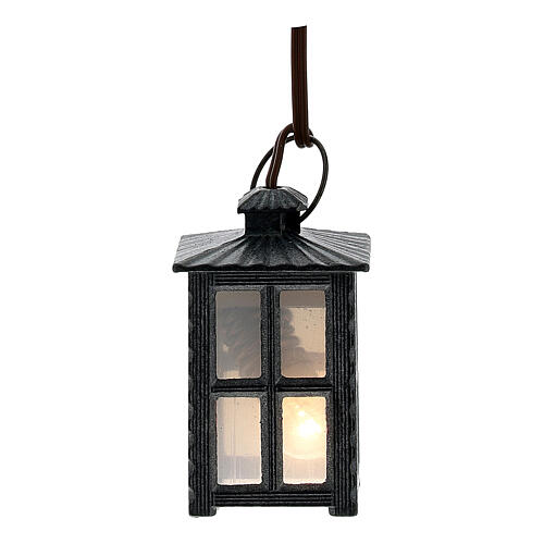 Lampion metal światło białe h 4 cm 1