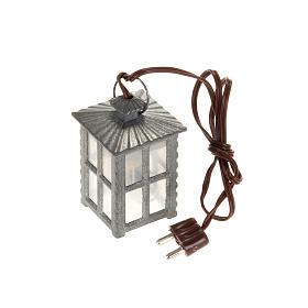Luzes e Lamparinas para o Presépio: Lanterna metal luz branca h 4 cm