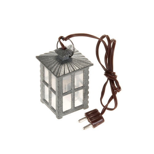 Metal lamp with white light, 4cm 1