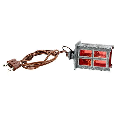 Lampion metal światło czerwone h 4 cm 4