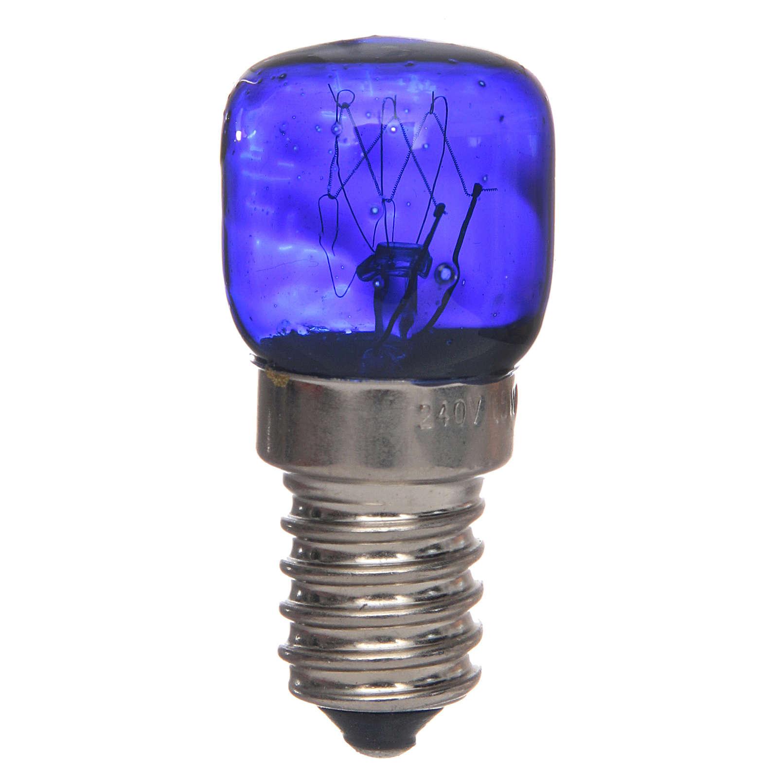 LED light, blue, E14, 15W, 220V 4