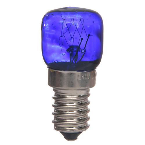Bombilla E14 azul 15W 220V 1