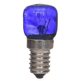 Lampadina E14 blu 15w 220v s1