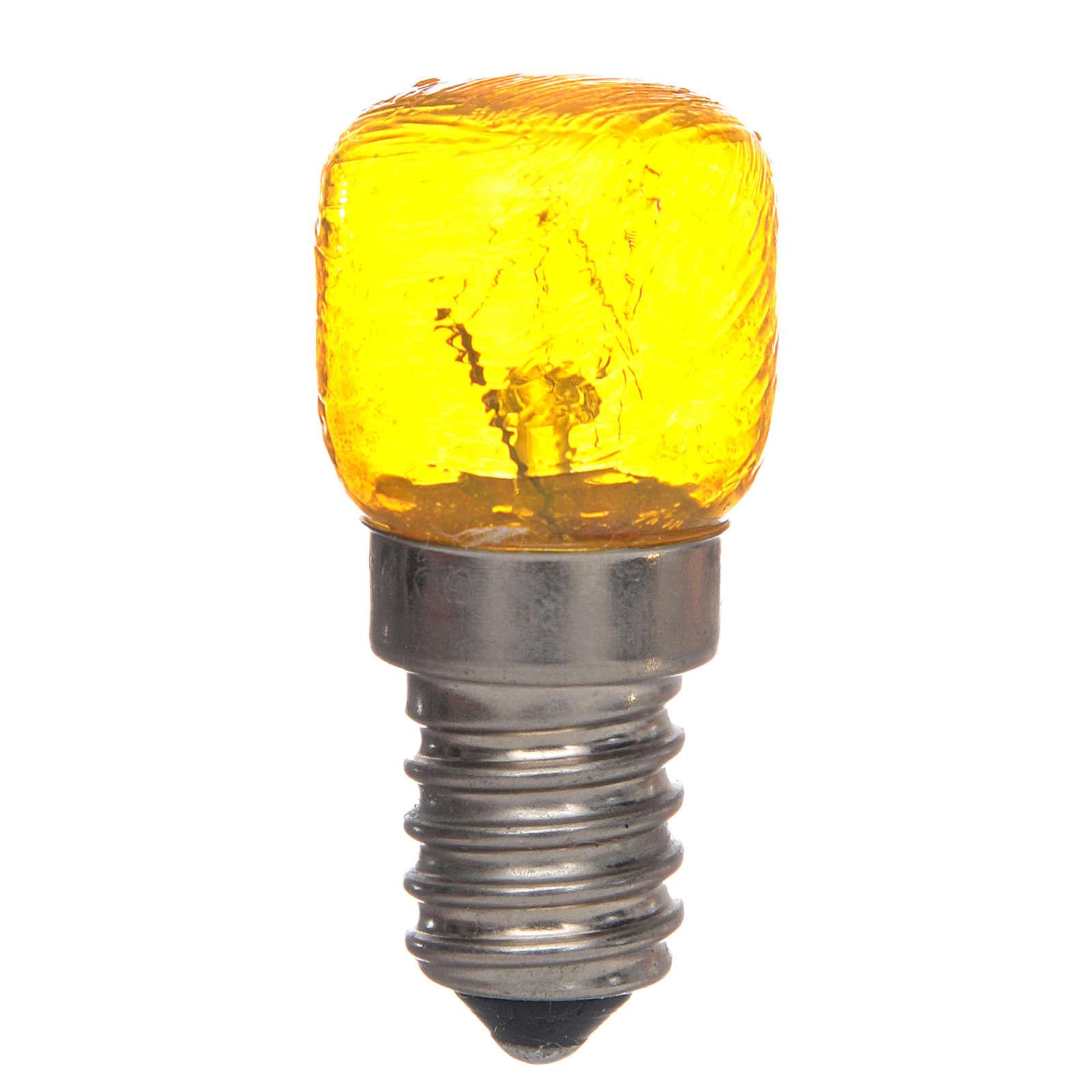 Bombilla E14 amarilla 15W 220V 4