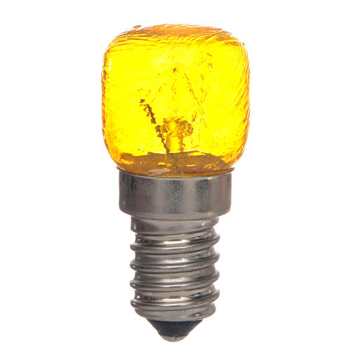 LED light, yellow, E14, 15W, 220V 1