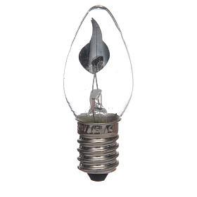 Nativity lights and lamps: LED fire effect light 5cm, E14, 3W, 220V