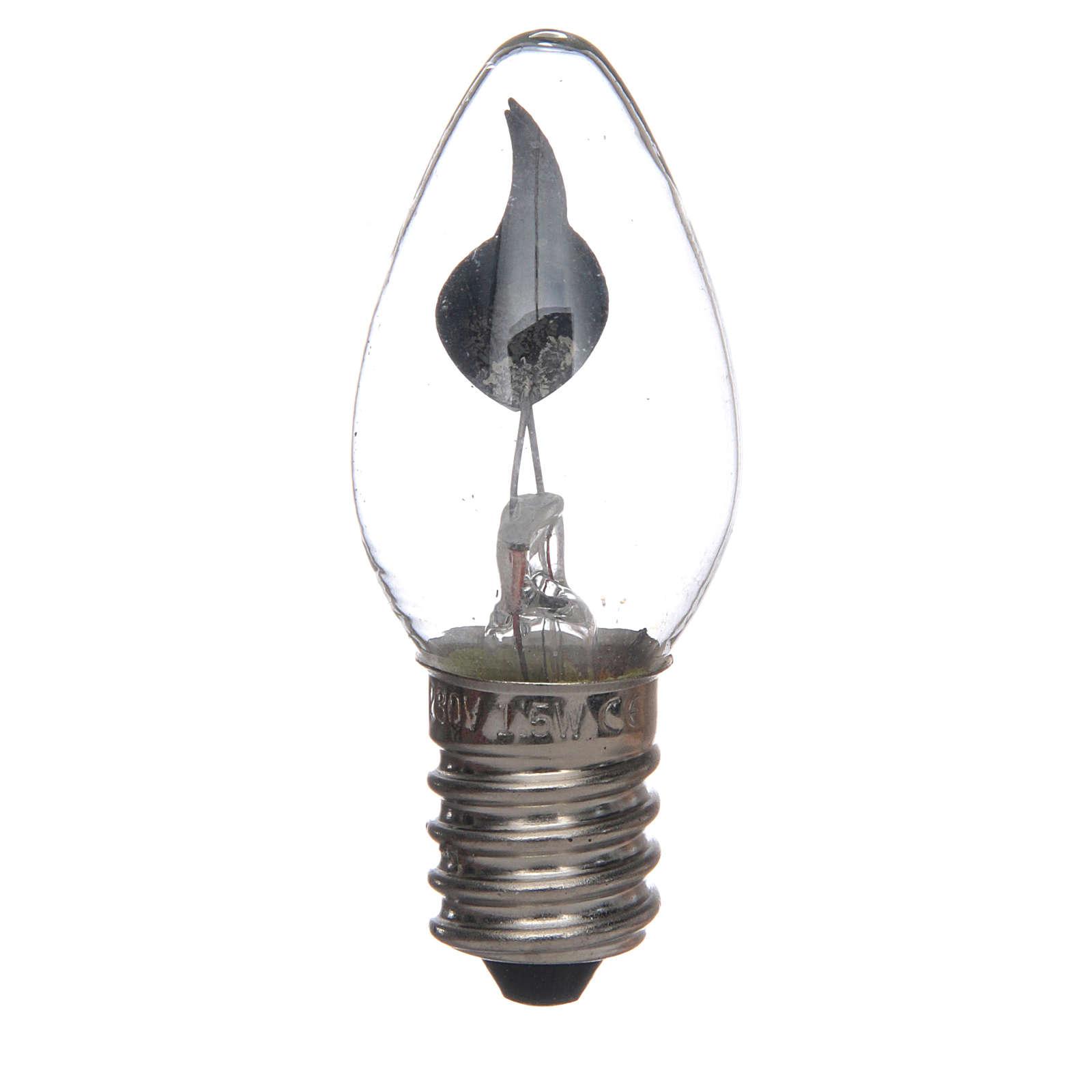Ampoule effet flamme 5 cm crèche Noel E14 3W 220v 4