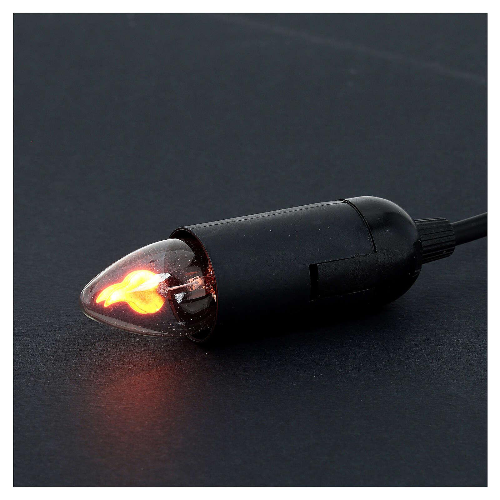 Porte ampoule effet feu 5 cm crèche Noel 4
