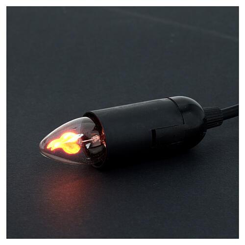 Porte ampoule effet feu 5 cm crèche Noel 3