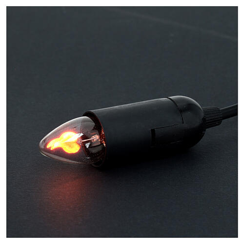 Luz efeito chama lâmpada 5 cm 3
