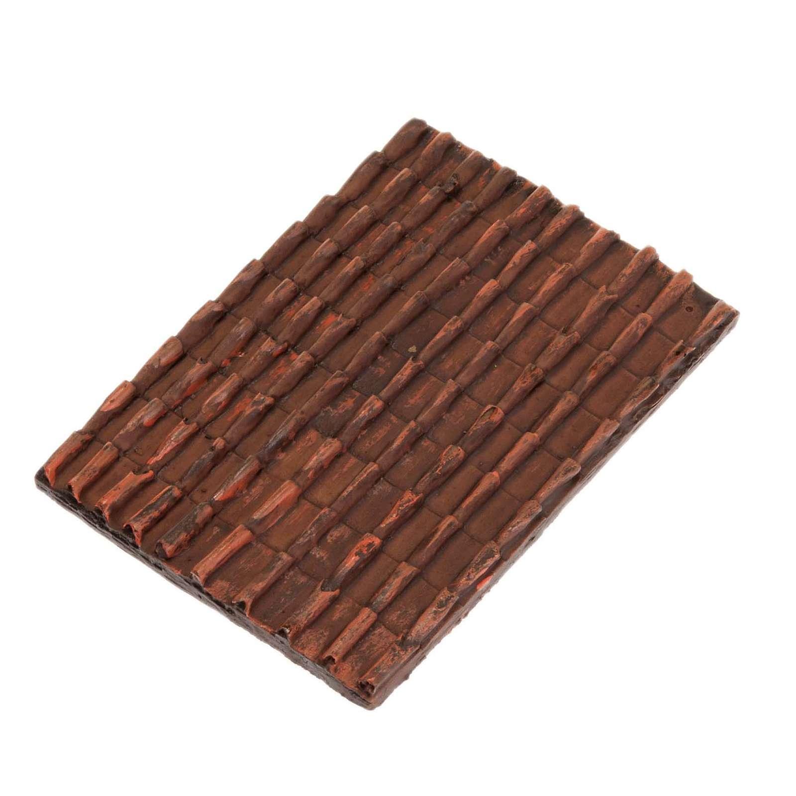 Techo de tejas rojas belén bricolaje 4
