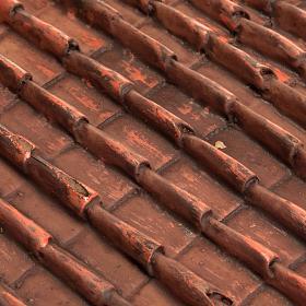 Techo de tejas rojas belén bricolaje s2