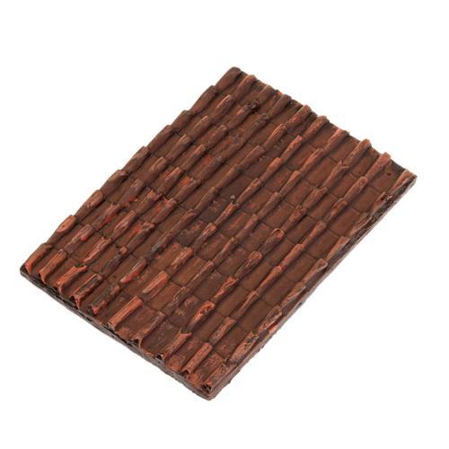 Techo de tejas rojas belén bricolaje 1