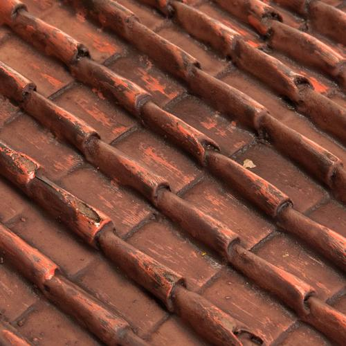 Techo de tejas rojas belén bricolaje 2