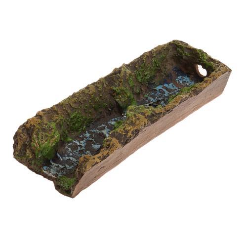 Nativity accessory, stream 17,5x5x3 cm 2