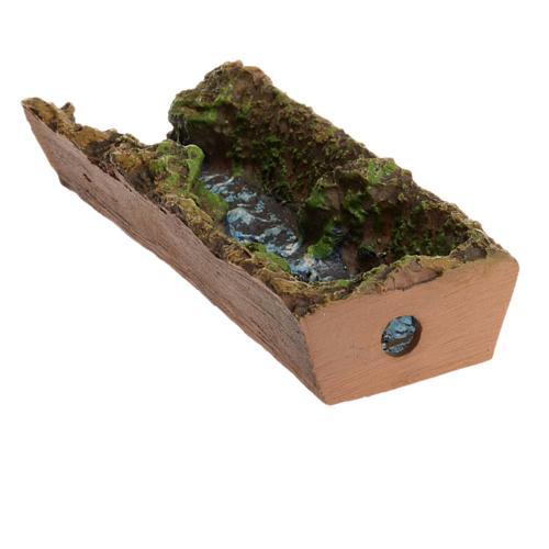 Nativity accessory, stream 17,5x5x3 cm 3