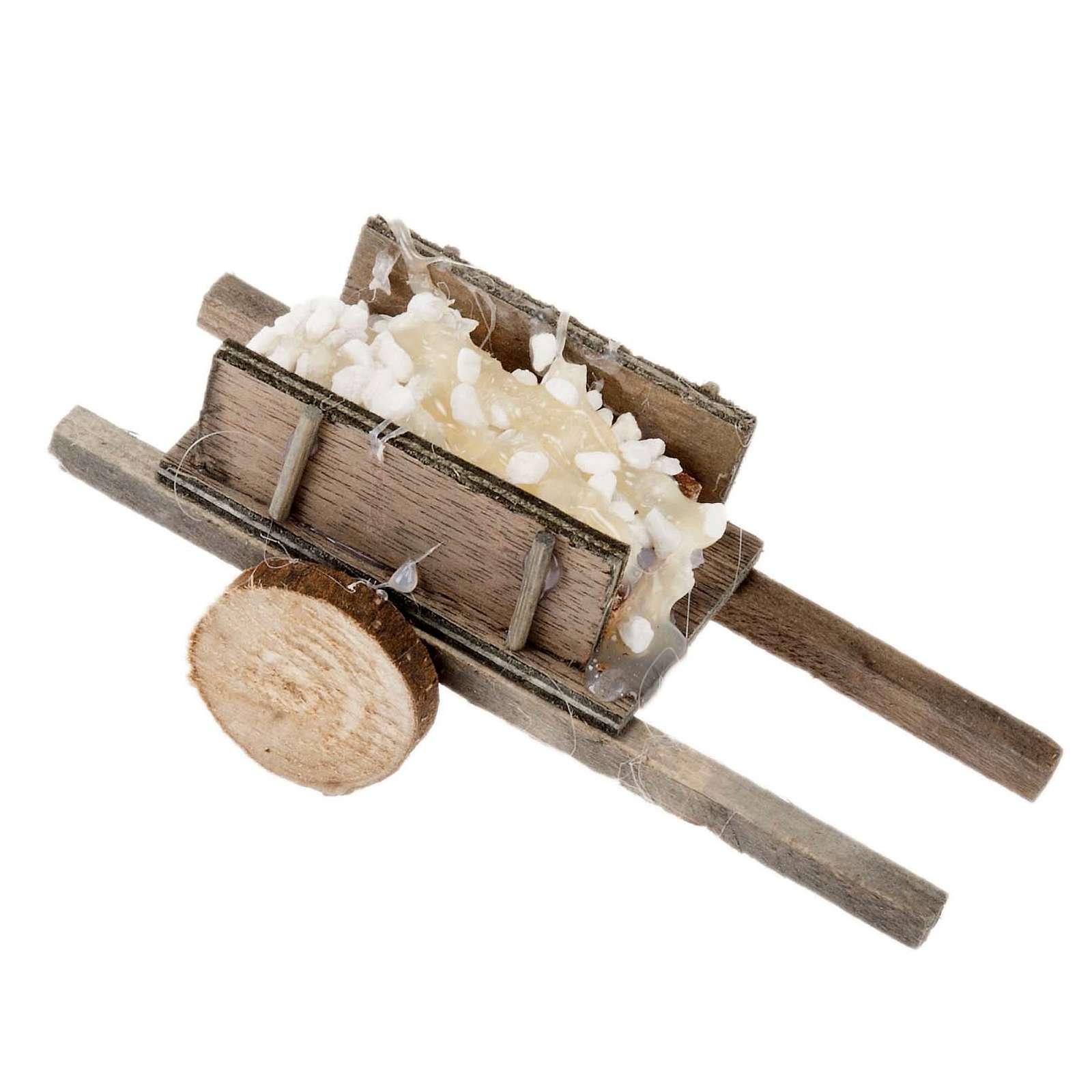 Carretto legno con pietre presepe fai da te 4