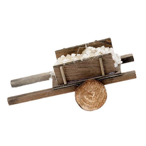 Carretto legno con pietre presepe fai da te 2