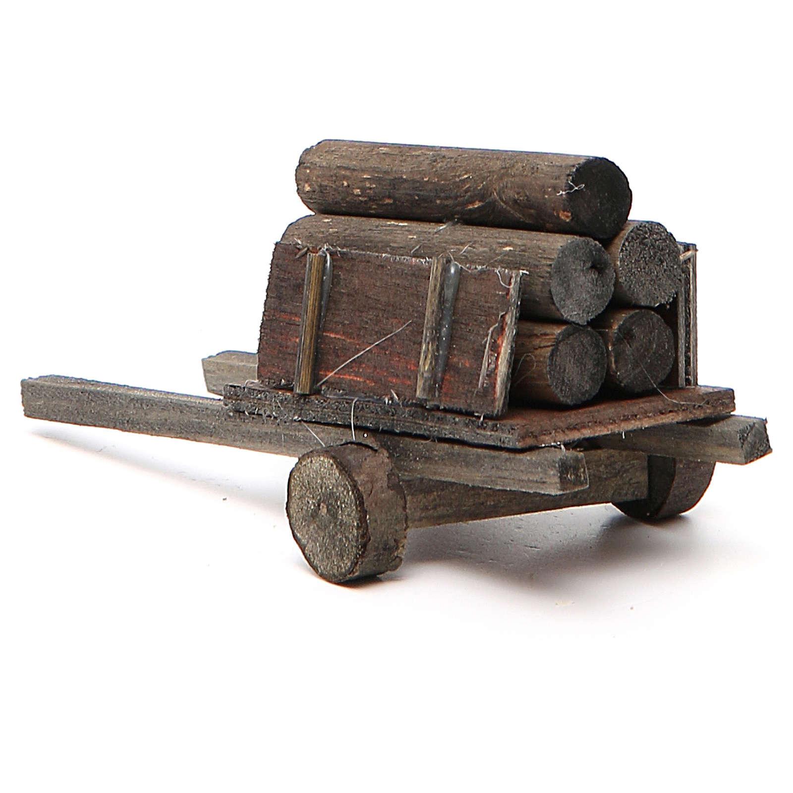 Carretto con legna presepe fai da te 4