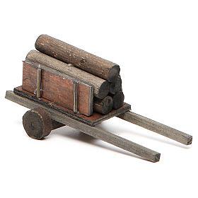 Carretto con legna presepe fai da te s2