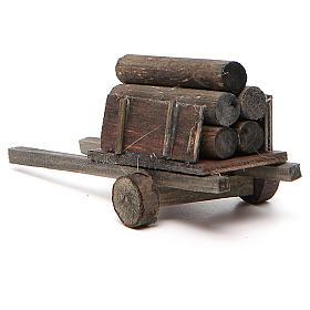 Carretto con legna presepe fai da te s3