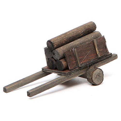 Carretto con legna presepe fai da te 1