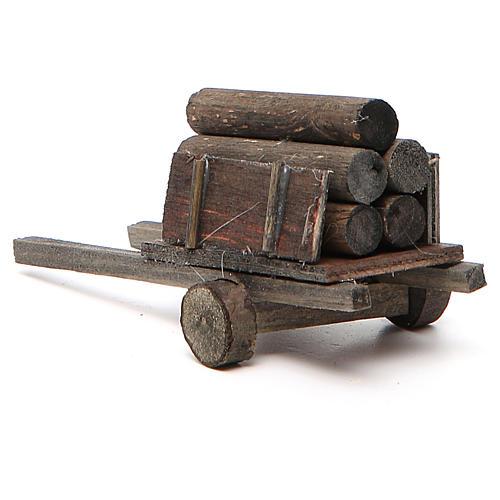 Carretto con legna presepe fai da te 3