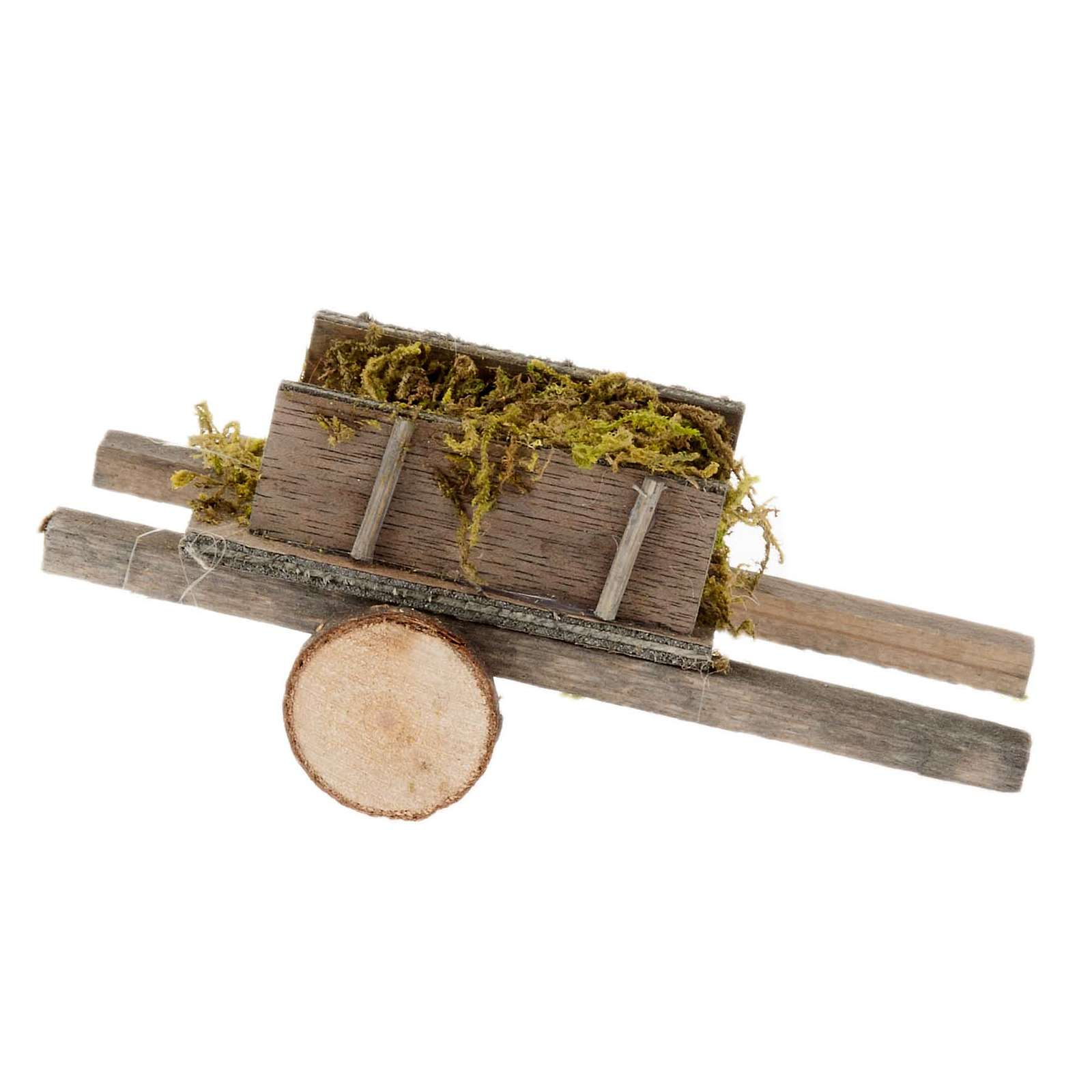 Nativity scene accessory, cart with moss 4