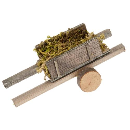 Nativity scene accessory, cart with moss 1