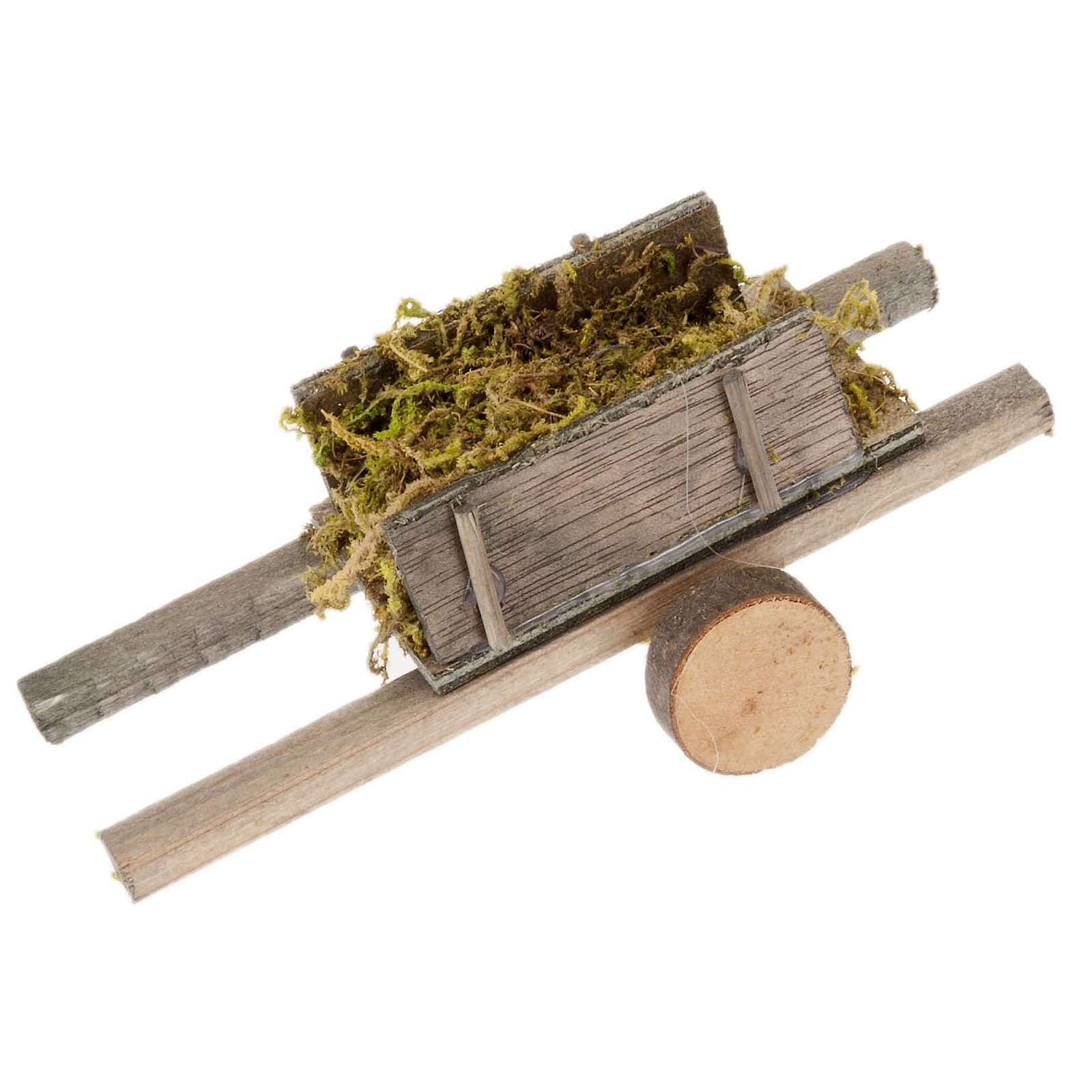 Nativity scene accessory, cart with moss 4