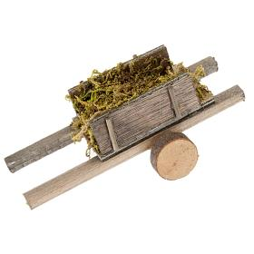 Nativity scene accessory, cart with moss s1