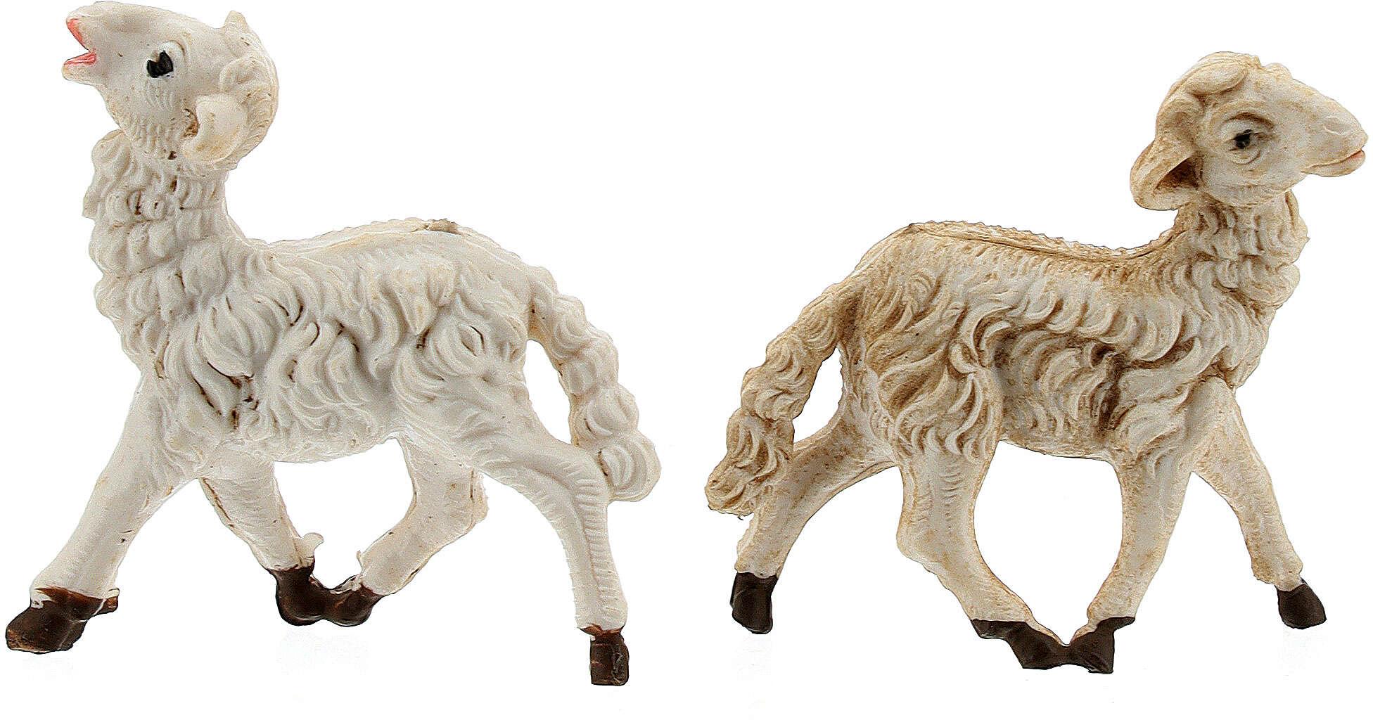 Pecore presepi plastica assortite 10 pz. 8 cm 3
