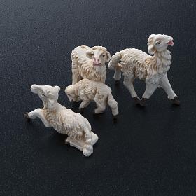 Pecore presepi plastica assortite 10 pz. 8 cm s2