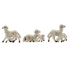 Pecore presepi plastica assortite 10 pz. 8 cm s3