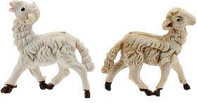 Pecore presepi plastica assortite 10 pz. 8 cm s4