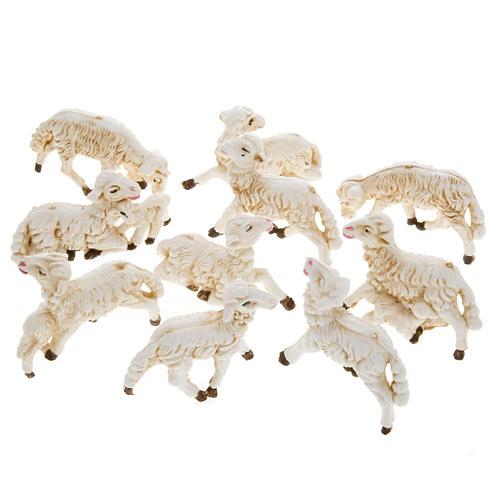 Pecore presepi plastica assortite 10 pz. 8 cm 1