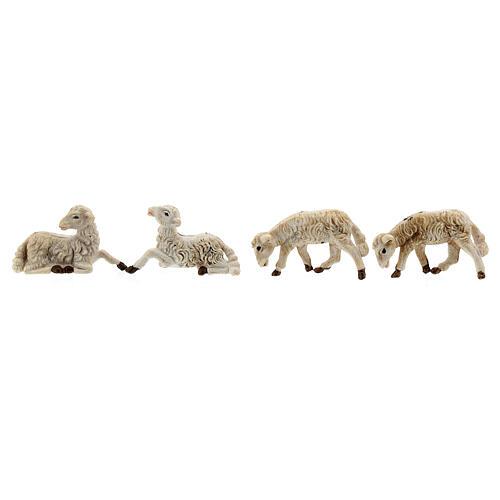 Pecore presepi plastica assortite 10 pz. 8 cm 2