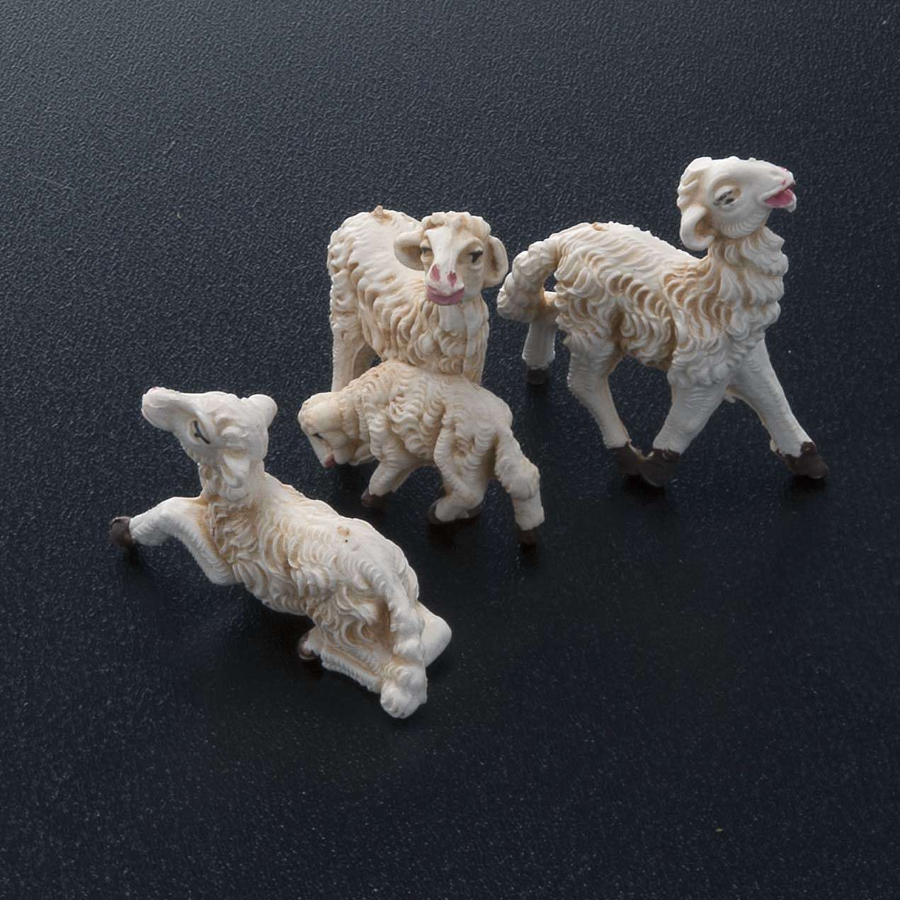 Nativity scene figurines, sheep 10 pieces 8 cm 3