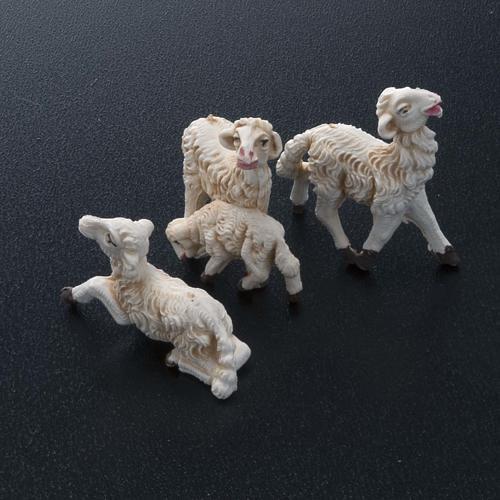 Nativity scene figurines, sheep 10 pieces 8 cm 2