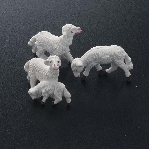 Nativity scene figurines, white sheep 10 pieces 8 cm 2