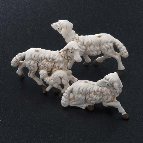 Pecore presepi plastica assortite 10 pz. 10 cm 2